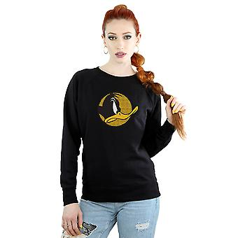 Looney Tunes Women's Daffy Duck Dotted Profile Sweatshirt