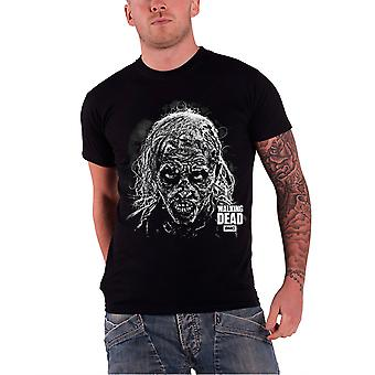 The Walking Dead T Shirt Mens Black Hideous Walker Face zombie new Official