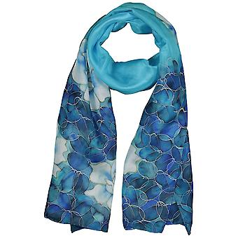 Invisible World Women's Hand-Painted 100% Silk Roses Scarf