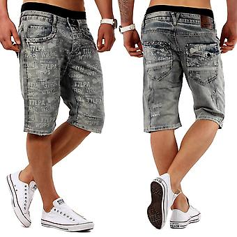 Trendy men's Capri SAYYEAH denim Bermuda of shorts short cargo shorts 3/4