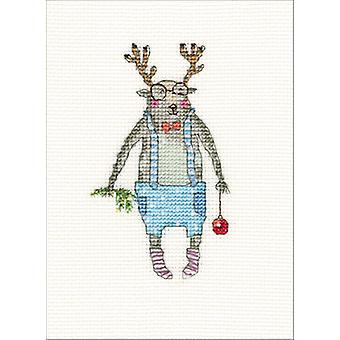 Here I Am Counted Cross Stitch Kit-2.75