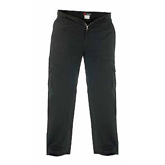 Duke London Mens Cotton Cargo Trousers