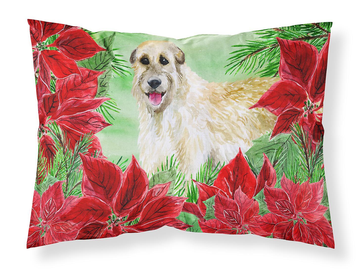 Poinsettias D'oreiller Standard Du Tissu Irish Wolfhound De Taie BdoWCxre