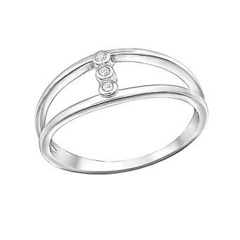 Geometric - 925 Sterling Silver Cubic Zirconia Rings