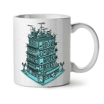 Sound Speaker House NEW White Tea Coffee Ceramic Mug 11 oz | Wellcoda