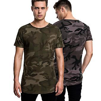 Urban classics - SHAPED Long tee shirt camouflage
