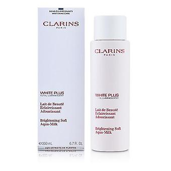 Clarins By Clarins White Plus Total Luminescent Brightening Soft Aqua-Milk --200Ml/6.7Oz
