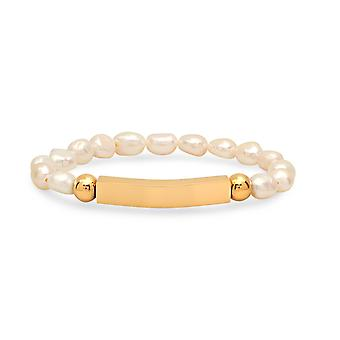 Ladies Genuine Freshwater Pearl Beaded Stretch Bracelet