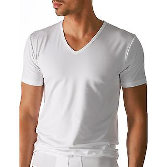 Mey 46107-101 Men's Dry Cotton White Solid Colour Short Sleeve Top