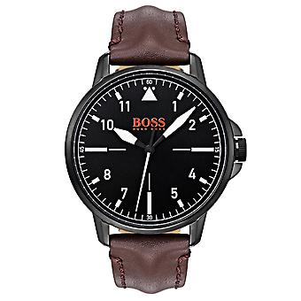 Hugo Boss 1550062 Chicago Black & Brown Leather Men's Watch
