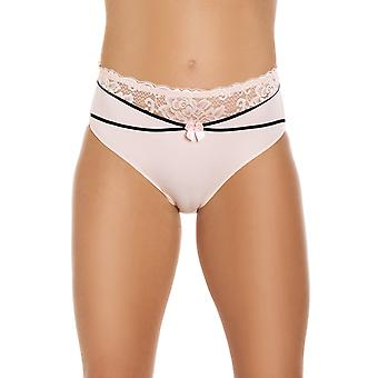 Camille Ladies Rose Pink Floral Lace Brief