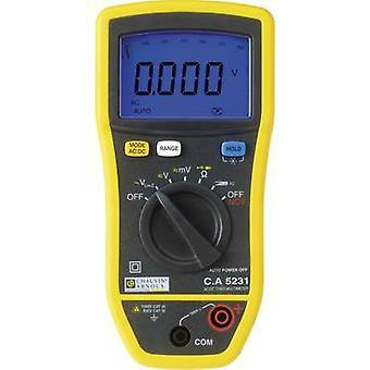Handheld multimeter Chauvin Arnoux C.A 5231 Calibrated to: Manufacturer's standards (no certificate)