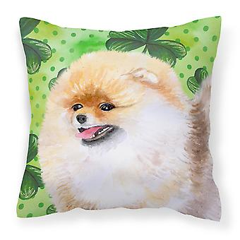 Pomeranian St Patrick's Fabric Decorative Pillow
