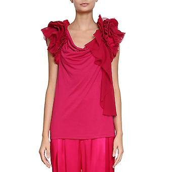 Givenchy women's BW600R300S675 red rayon tank top