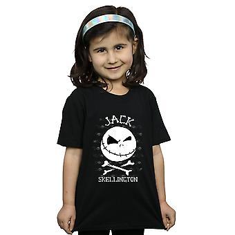 Disney Mädchen Nightmare Before Christmas Jack Gesicht T-Shirt