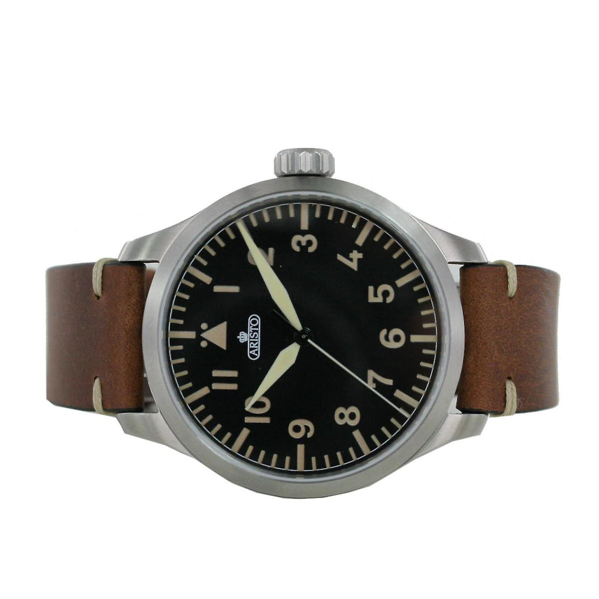 Aristo men's watch automatic Bracelet Watch 7 H 96 vintage 47 leather