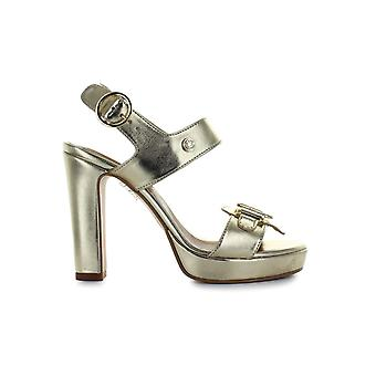 LOVE MOSCHINO LOGO OR PLATINE SANDALE TALONS HAUTS