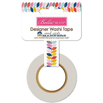 Mind Your Manners Washi Tape .625
