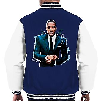 Sidney Maurer Original Portrait Of Jay Z Suit Men's Varsity Jacket