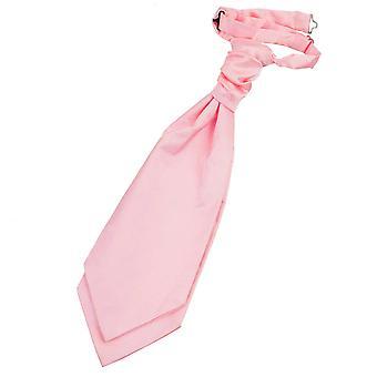 Baby Pink Plain Satin Pre-Tied Wedding Cravat