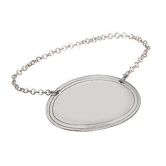 Cast Pewter Plain Oval Decanter Label