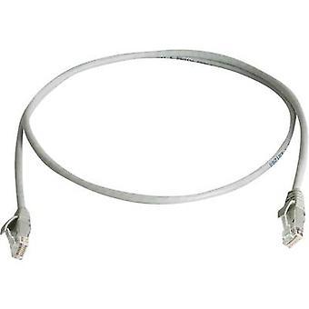 RJ45 Redes Cable CAT 6 U/UTP 0,5 m gris ignífugo, libre de halógenos Telegärtner