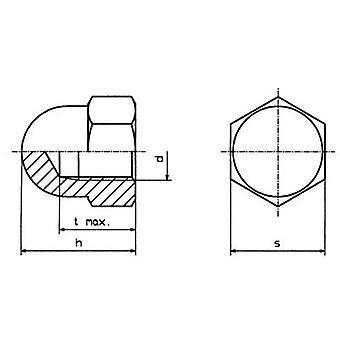 TOOLCRAFT M5 D1587 ポリ 194792 六角キャップ ナット M5 プラスチック 10 pc(s)