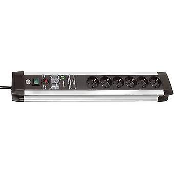 Brennenstuhl 1391000607 Surge protection socket strip 6x Black, Aluminium PG connector