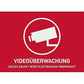 ABUS AU1321 Warning label CCTV Languages German (W x H) 74 mm x 52.5 mm
