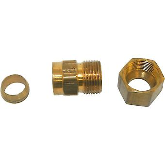 Big A Service Line 3-166620 Brass Pipe, Male Adapter Fitting 3/8