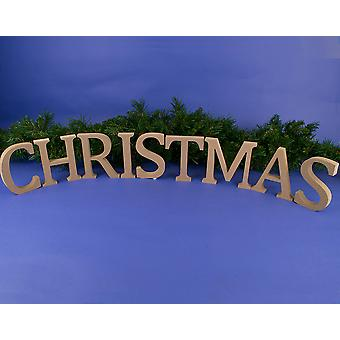Large 130mm Wooden MDF 'Christmas' Letters to Decorate