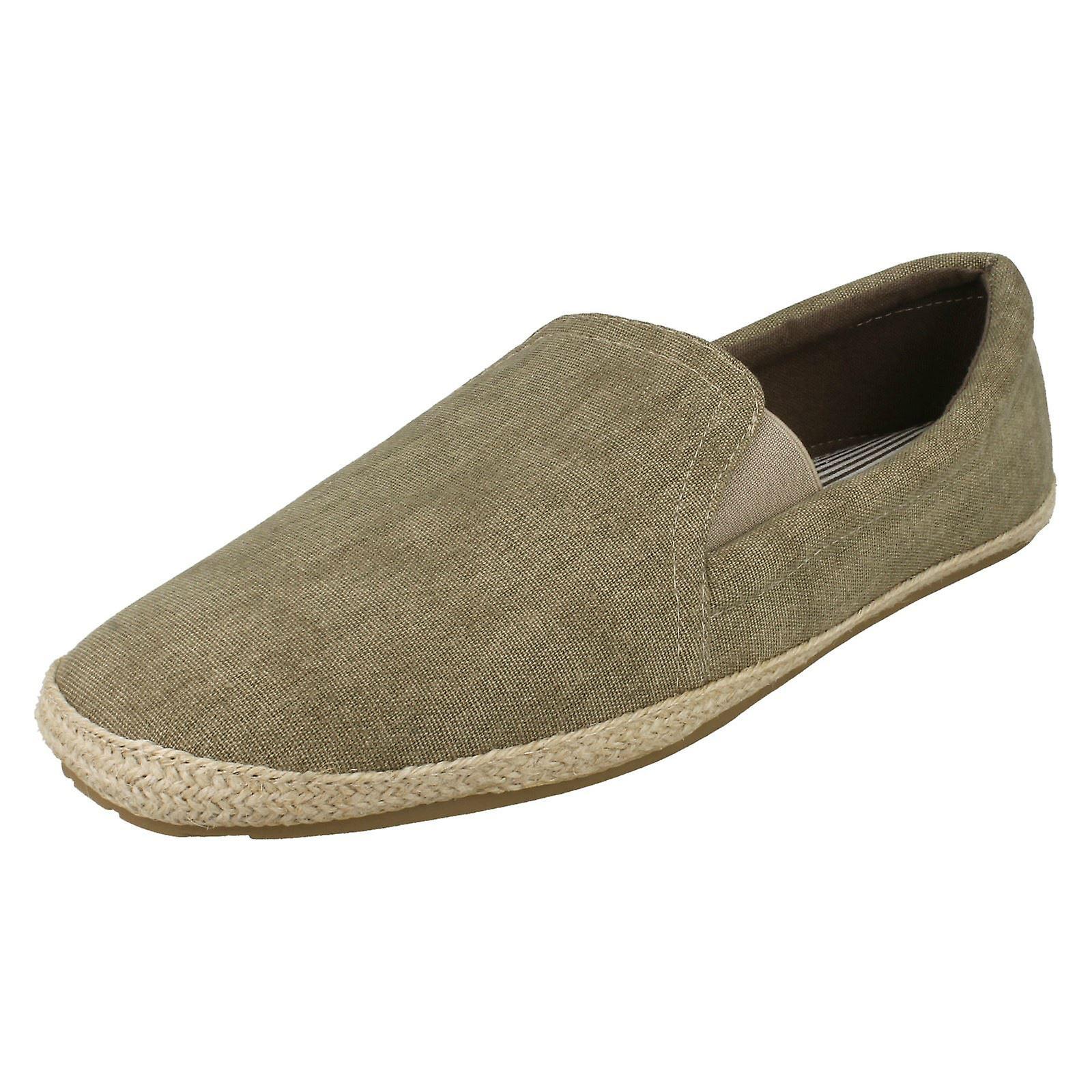 Mens Maverick Canvas Shoes - Brown Canvas Canvas Canvas - UK Size 8 - EU Size 42 - US Size 9 e87241