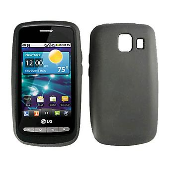 LG Vortex VS660 Silicone Case (Black) (Bulk Packaging)