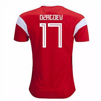 2018-19 Russia Home Shirt (Dzagoev 17) - Kids