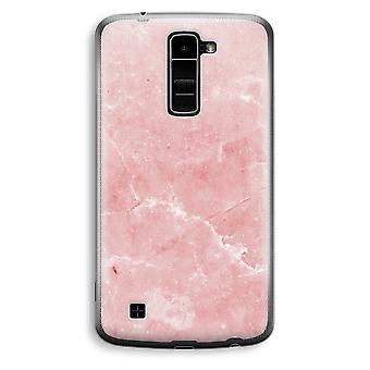 LG K10 (2016) Transparent Case (Soft) - Pink Marble
