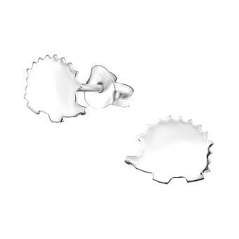 Hedgehog - 925 Sterling Silver Plain Ear Studs - W33071X