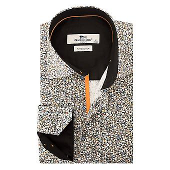 Claudio Lugli Pebble Print Mens Shirt