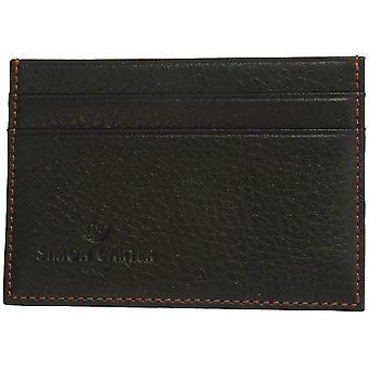 Simon Carter Soft Leather Credit Card Holder - Black