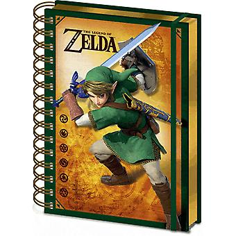 The Legend Of Zelda Notebook Link 3D Cover new Official Nintendo A5 Wiro