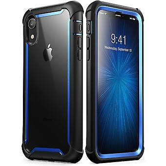iPhone XR Case, [Ares] Full-Body Rugged Clear Bumper Case with Built-in Screen Protector (2018 Release)(Blue)