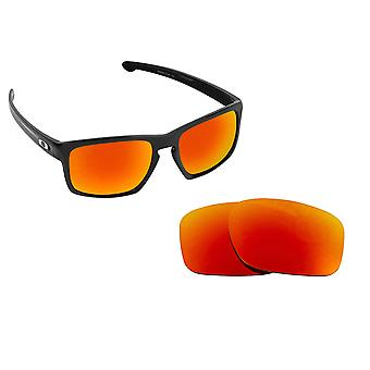 5ef1523df55 SLIVER Replacement Lenses Polarized Red Mirror by SEEK fits OAKLEY  Sunglasses