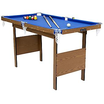 Charles Bentley Kids Junior 4Ft Blue Pool Games Table With Spots & Stripes Pool Balls & 2 Cues Indoor INCLUDES ALL ACCESSORIES