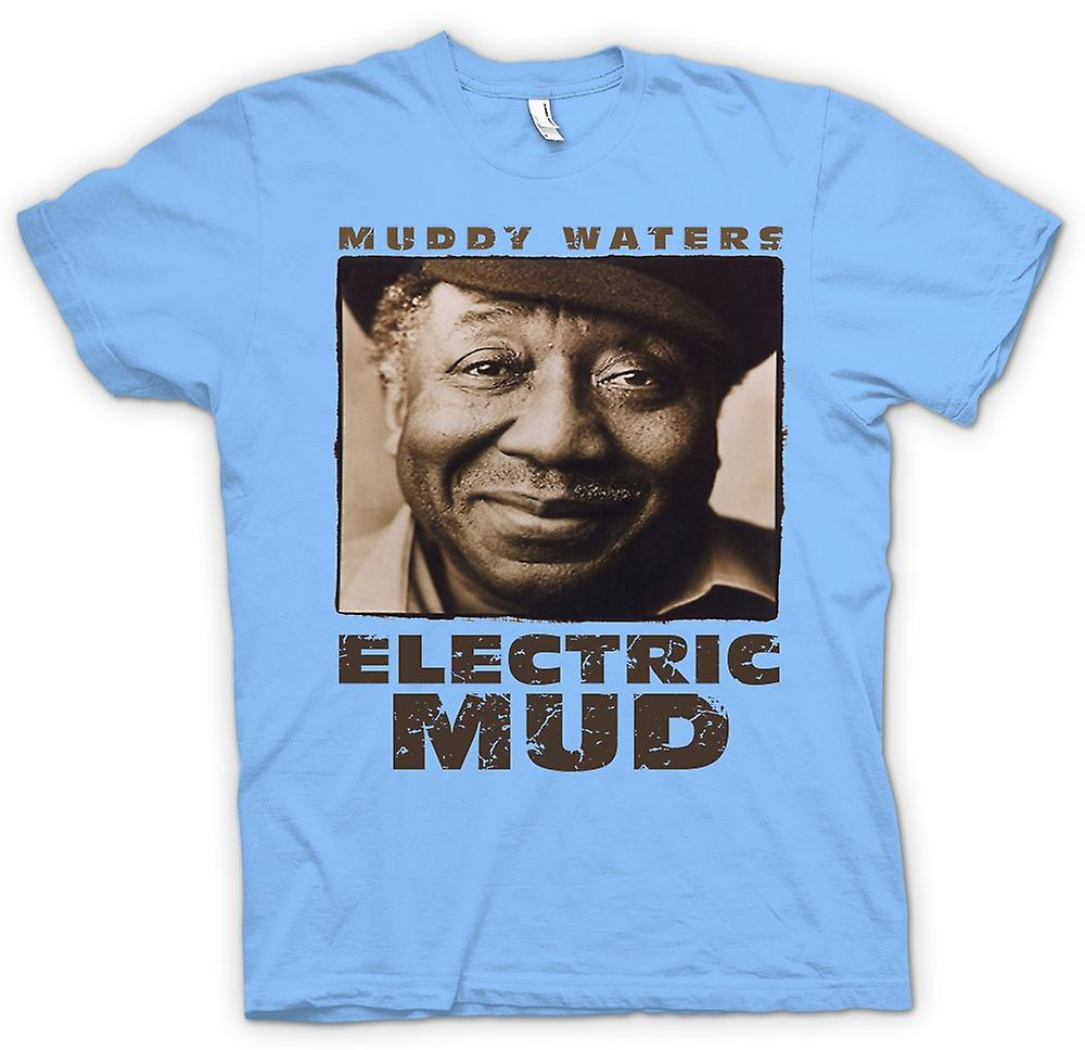 Mens t-skjorte-Muddy Waters elektrisk Mud Blues - gitar - ikon