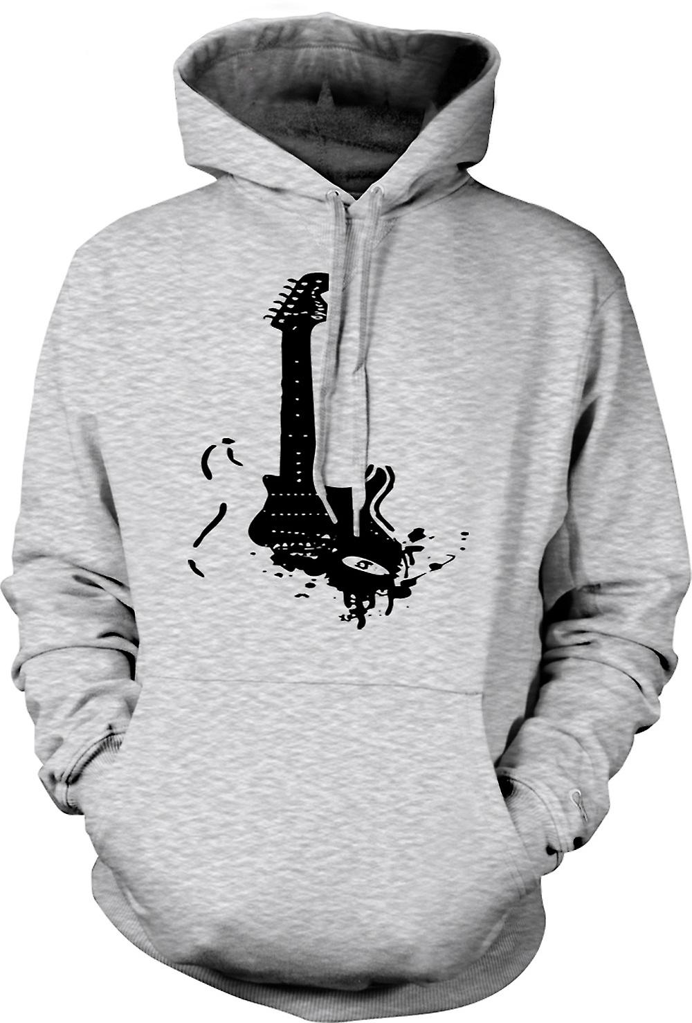 Mens Hoodie - Fender Strat - Pop Art - Guitar Music