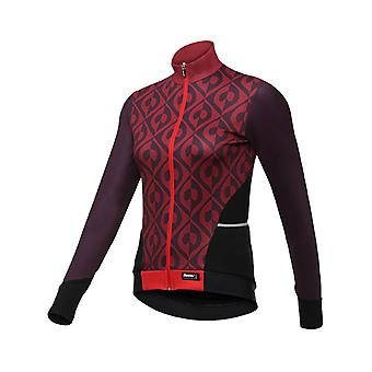 Santini Bordeaux 2018 Fashion Coral Womens Long Sleeved Cycling Jersey