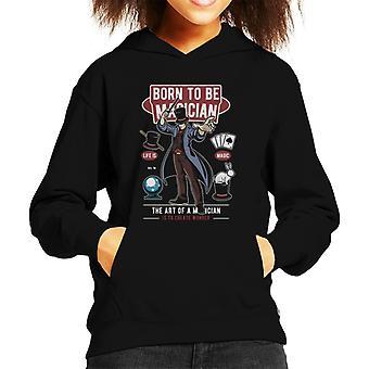 Born To Be Magician Kid's Hooded Sweatshirt