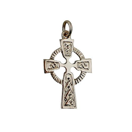 9ct Gold 28x19mm embossed Celtic pattern Cross