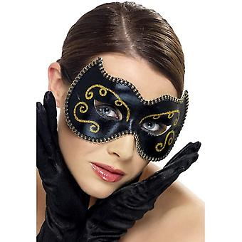 Womens zwart Perzisch Eyemask Fancy Dress accessoire