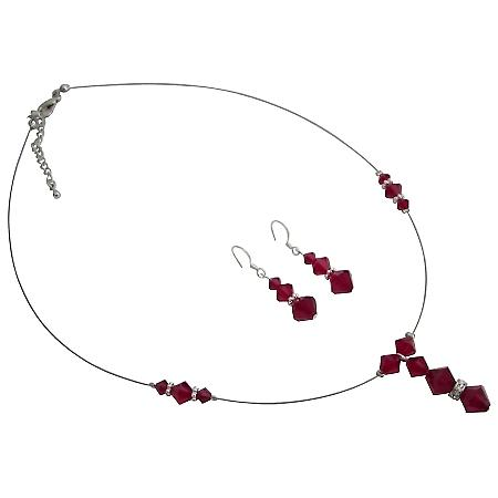 Budget Bridal Swarovski Siam Swarovski Jewelry Set