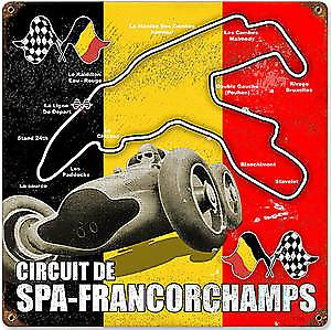 Spa Francorchamps Circuit rusted metal sign  (pst 1212)